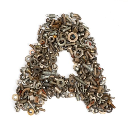 alphabet made of bolts - The letter a photo