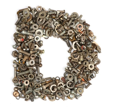 alphabet made of bolts - The letter d photo