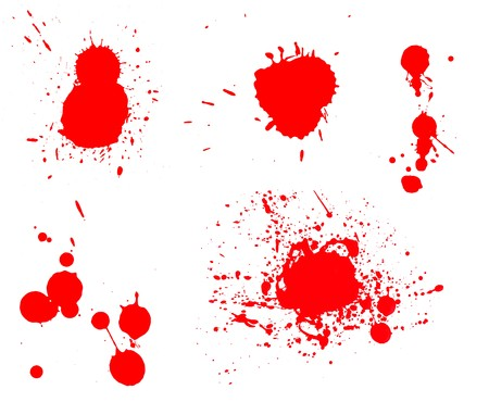 blot: Ink splashes Stock Photo