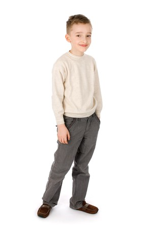 young boy smiling: Young boy smiling  Stock Photo