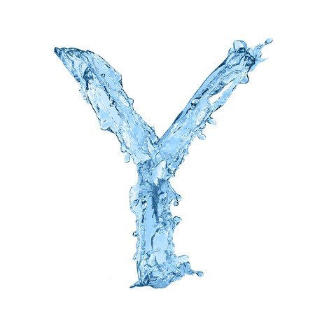 alphabet made of frozen water - the letter Y Stock Photo - 7142464