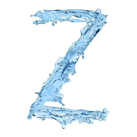 frozen waves: alphabet made of frozen water - the letter Z