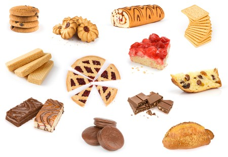 baking collection isolated on white background photo