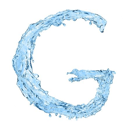 ice font: alphabet made of frozen water - the letter G
