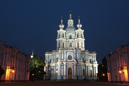 Russia, St. Petersburg. Smolny Cathedral (Church of the Resurrection) Stock Photo - 7564685