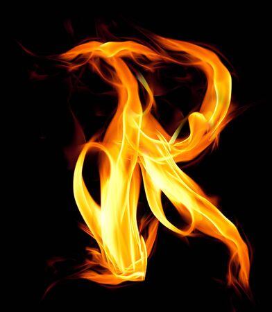 ardent: Fiery font. Letter R