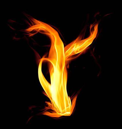 ardent: Fiery font. Letter Y