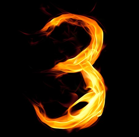 Fiery number three photo