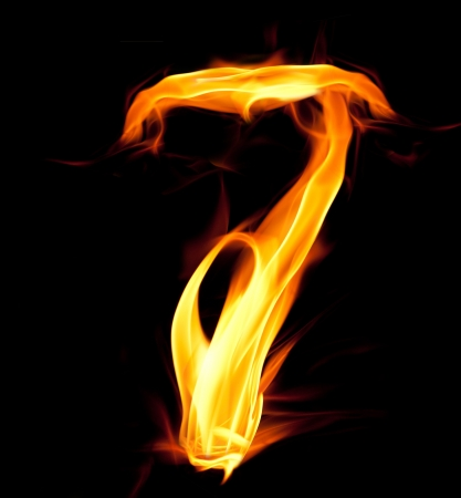 number seven: Fiery number seven
