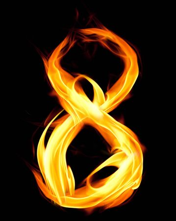Fiery number eight photo