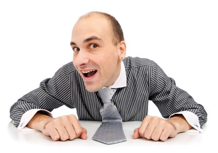 Young funny businessman photo