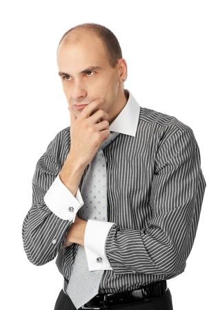 empresario enojado: Empresario enojado aislado en un fondo blanco