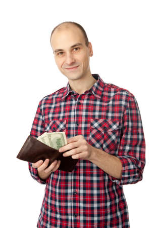 man taking out money from the wallet Stock Photo - 8583013
