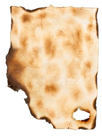 tearing down: grunge burnt paper Stock Photo