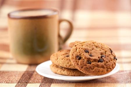 チョコレート チップ クッキーのクローズ アップ