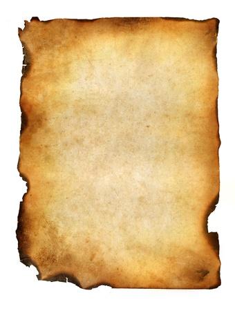 quemado: grunge en blanco quemado papel con bordes oscuros de adust