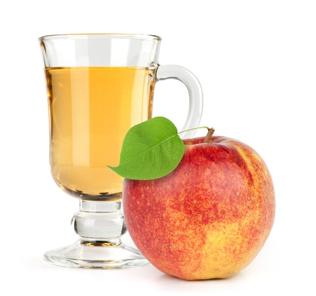 red apple fruit with juice photo