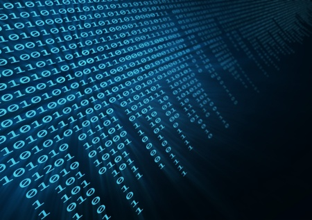 software code: binary code Stock Photo