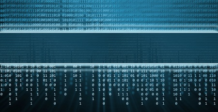 computer center: Binary code, technology background