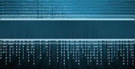 Le code binaire, fond la technologie Banque d'images