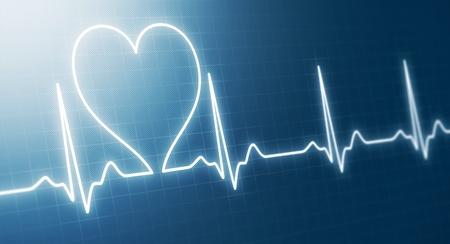 Abstract heart beats cardiogram  photo