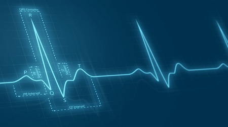 medical background: cardiogram Stock Photo