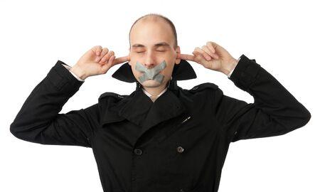 no talking speaking hearing Stock Photo - 10603070