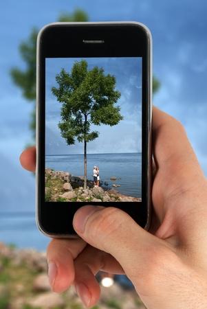 prise de la photo de téléphone cellulaire caméra