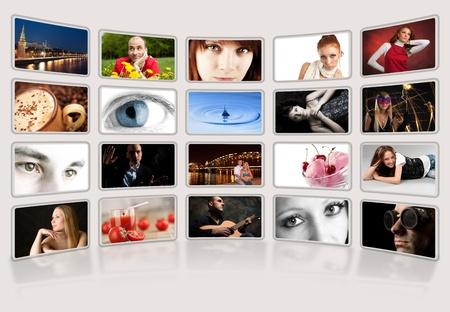 galeria fotografica: �lbum de fotos digital Foto de archivo