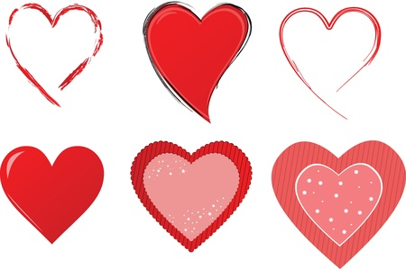 heart outline: Heart collection