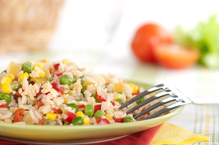 riz frit, cuisine chinoise Banque d'images