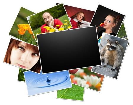 collection de photos avec cadre blanc.