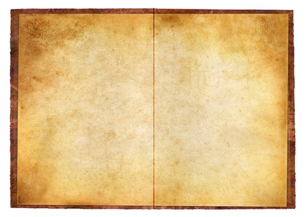 wild west: blank grunge burnt paper with dark adust borders Stock Photo