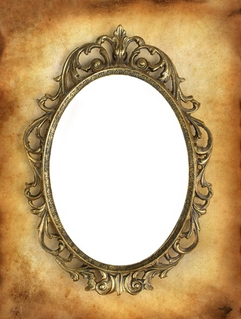 antique frame with a blank white area for your image photo