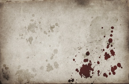 グランジ背景に血の斑点