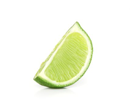 lime slice: lime slice isolated on white
