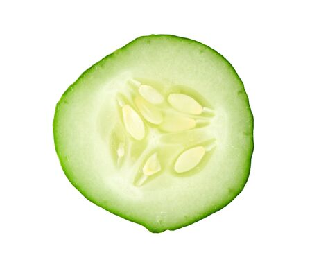 cucumber: sliced cucumber isolated on white background