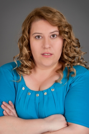 oversize: fat woman portrait