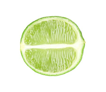 Fresh lime isolated on white background Stock Photo - 13835040