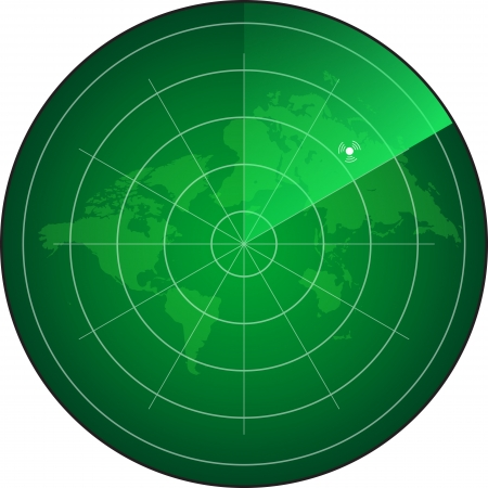 écran radar Illustration