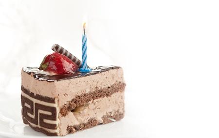 pasteles de cumpleaños: pedazo de la torta de cumpleaños