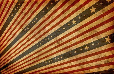 banderas america: grunge bandera americana estilizada Foto de archivo