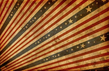 grunge stylized american flag