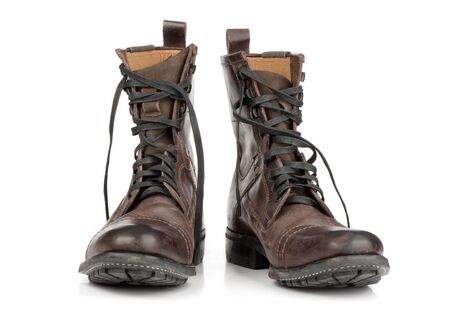 boots on white background photo