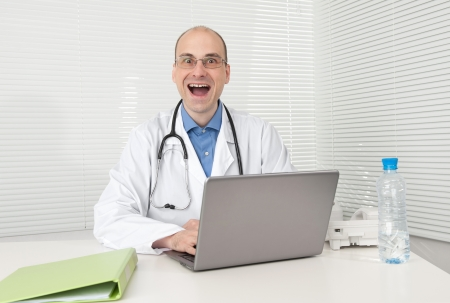 funny doctor: Funny doctor isolated over white