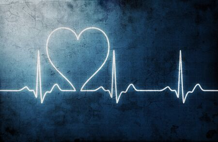 grungy heart beat photo
