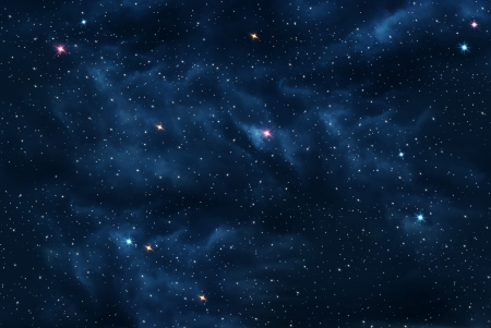 Universe filled with stars, galaxy background photo