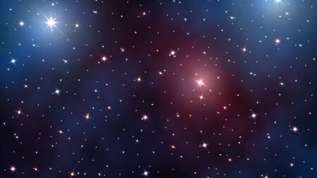 starry sky. Stars and nebulas in deep outer space Stock Photo - 16262471