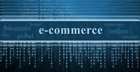 E-commerce concept, technology background photo