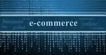 E-commerce fond de technologie concept,